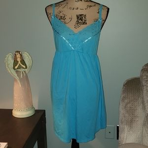 Victoria's Secret Lace Eyelet Slip Dress Lingerie